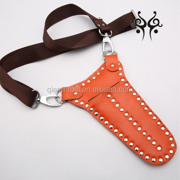 Fashion design leather cases for barber shears , hair scissors holster