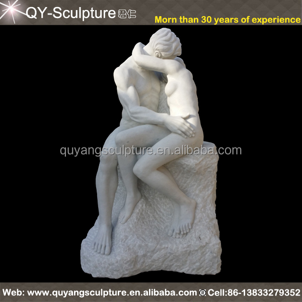 Rodin marble statue lover sculpture THE KISS
