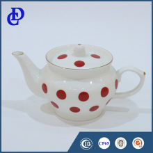 New customized logo decal home goods ceramic popular imports tea sets with teapot