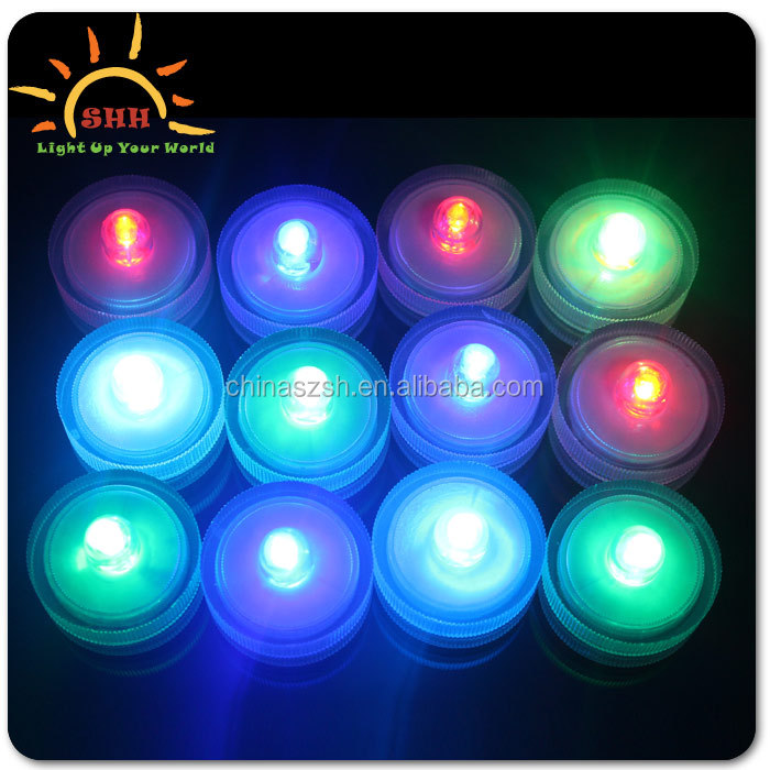2015 Remote Control LED Waterproof Candle Flashing Floralytes Submersible Candle Tea Light/Tealight