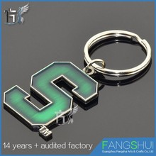 Customized Logo personalized design metal letter keychain