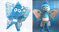 custom blue butterfly character mascot costumes