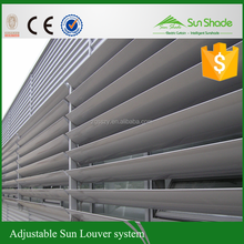Electric louvers aluminum louvre / aluminium louvre shades/Motorized window louvres