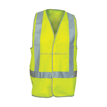 Waterproof Oil Repellent Uniform Yellow Safety Vest With Led Light
