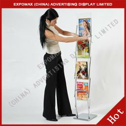 hot sales!A4 magazine rack, literature stands, acrylic magazine holder