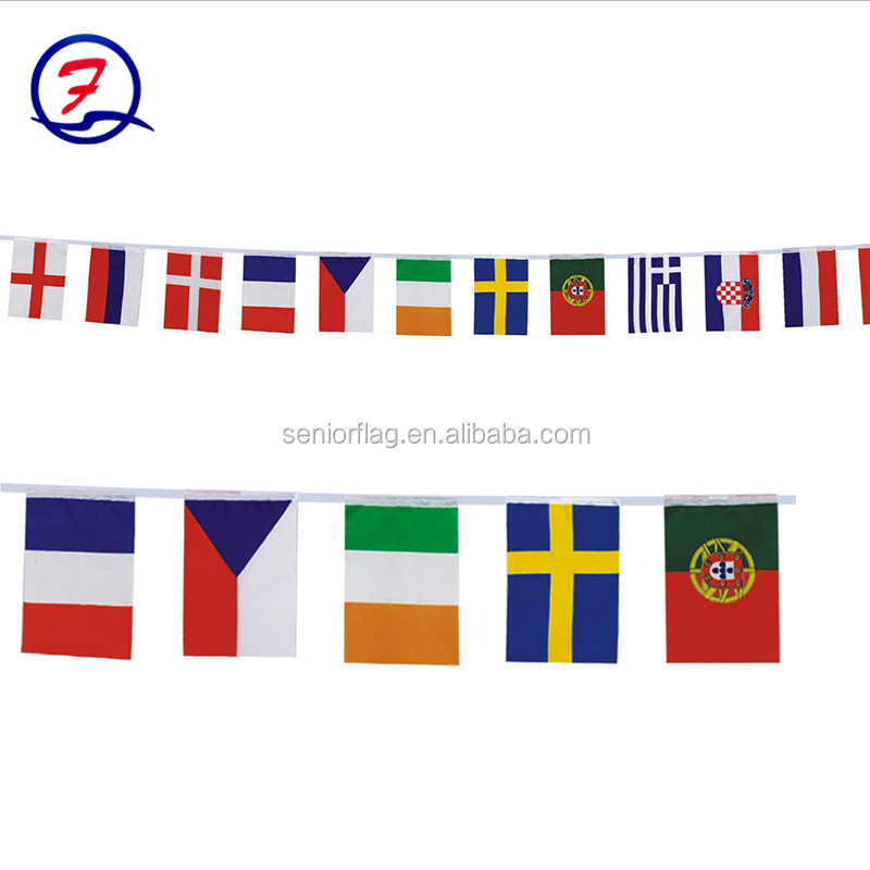 Good Quality PVC / Paper/Polyester Celebrating Festival Pennant Flag Promotional String Bunting