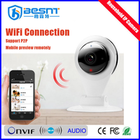 China hottest product onvif 720p wifi wireless ip camera p2p cell phone remote control built in ir cut email alarm BS-IP07
