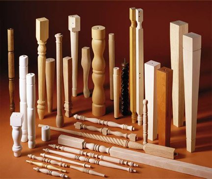 Hand carved high quality solid wood stair baluster,post