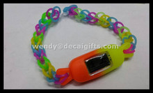 newest design popular fashion cheapest non-toxic silicone DIY loom watch bands for children