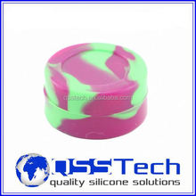 Cube square silicone bho container for wax oil, butane hash oil silicone container wholesale
