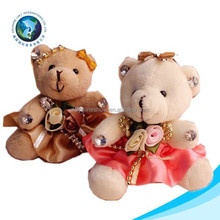 Mother's day gift soft wholesale cheap couple wedding plush toy bouquet teddy bear