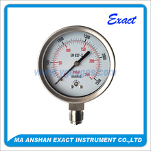 SS low connection Capsule Pressure Gauge exact Bourdon tube