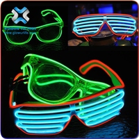 led light sunglasses , Flagship quality Ray-Ban Style EL wire colourful Sunglasses