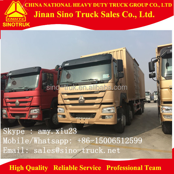 cargo truck/van truck/lorry HOWO 8x4 12 wheelers for sale