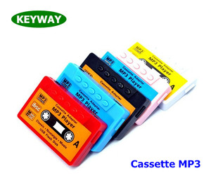 New Promotional Gift Mini SD/MMC Card USB 2.0 Retro Cassette Tape Style Mp3 Player For Media Music Leisure