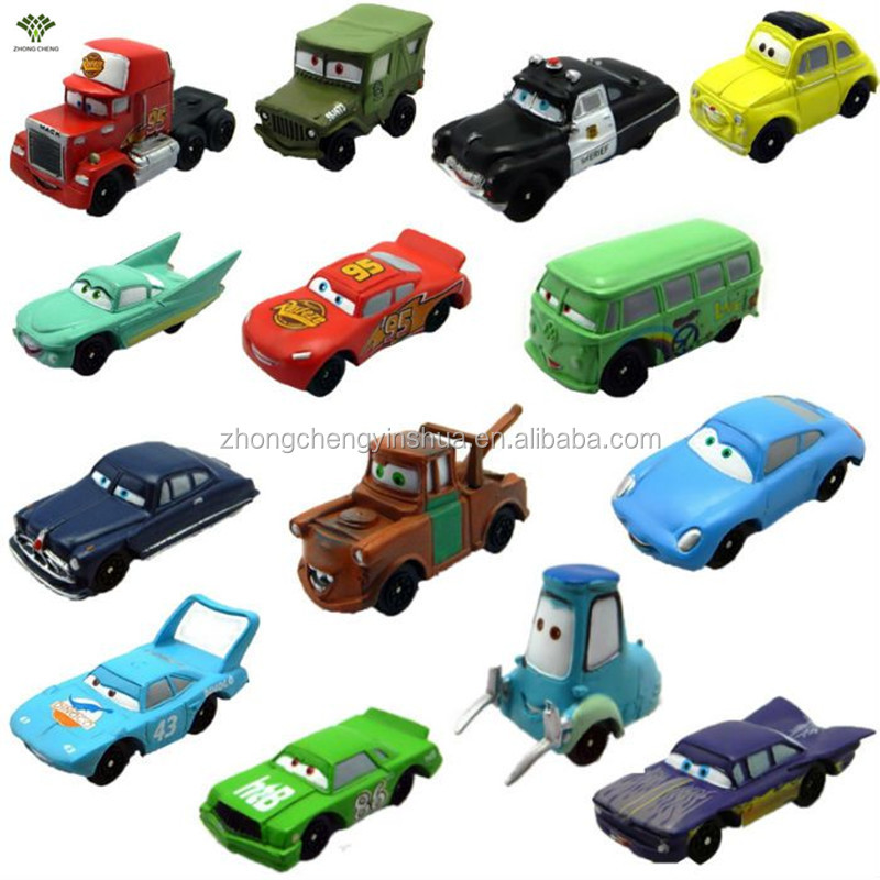 cheap plastic toy Cars plastic birthday cake toppers for christmas birthday wedding 14 PCS