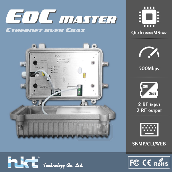 EoC RJ45 to Coax Adapter for Transforming Coax Cable into Two-way Network
