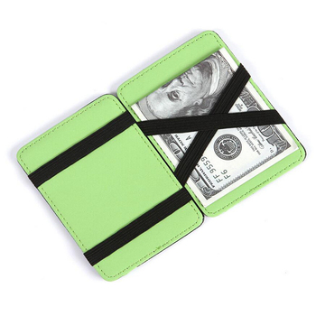 Elastic Wallet With Coin Purse Card Holder RFID Blocking Men Magic Wallet
