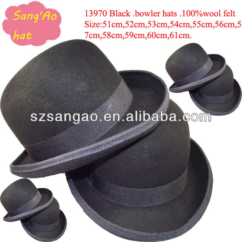 Wholesale Black women Material Aussie Hat