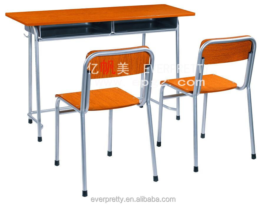 Education tender school furniture supplier folding assemble study table and chair