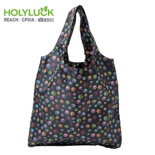 BSCI Promotion Custom Eco Friendly Sublimation Polyester Folding Shopping Bag