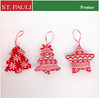 St.Pauli Factory low price 2015 knitted pattern new christmas ornament