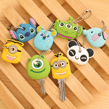 custom brand logo cute silicone animal pattern key caps silicone soft rubber pvc key cover,silicone key cap,key topper