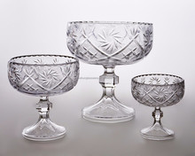 Wholesale Glass Bowl Glass Fruit Bowl Glass Ice Cream Bowl Set