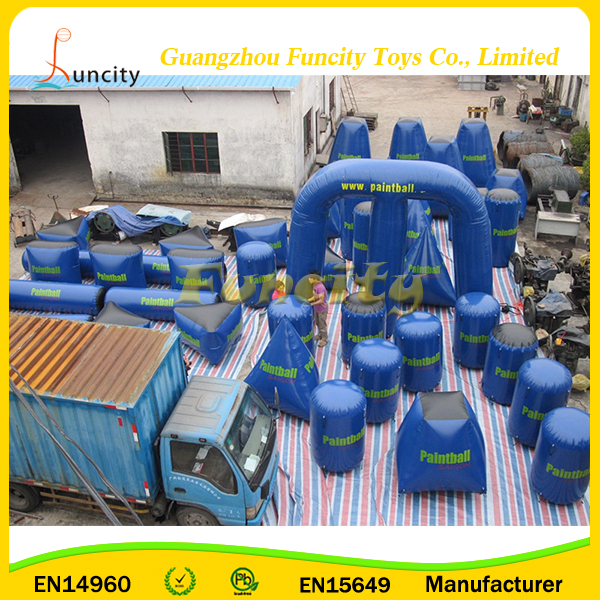 High Quality PVC Inflatable Paintball Bunker For Inflatable Bunker Gun Games