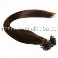 wholsale human 22inch dark color silk straight U-tip hair extesnsion