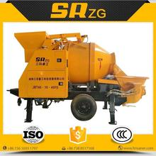 Bottom price hot-sale concrete mixer with pump with hoist