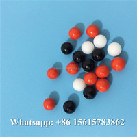 high quality hard plastic 11mm 12mm 13mm 12.7mm PTFE ball hollow teflon ball clear plastic red black balls