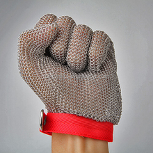 cut resistant gloves stainless steel mesh butcher glove
