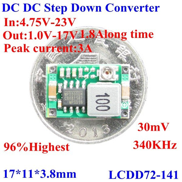 DC/DC 12V TO 5V 6V 3.3V Step-Down Buck Converter Mini Size