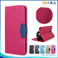 Frosted sand grain pu magnetic pu leather flip cover for Asus zenfone max zc550kl