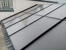 Solar swimming pool heating by concentrated flat solar collector water heating system