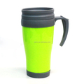 350ml plastic double wall wine glass travel coffee mug