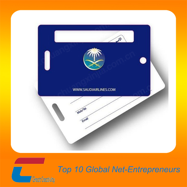 custom design luggage tag shaped business cards plane