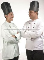 High Quality Disposable Black Paper Oval Chef Hat