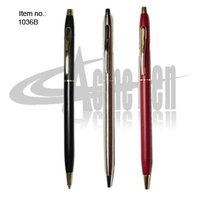 Cross style Metal slim ballpoint pen Popular Hotel Ball Pens