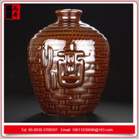 Ceramic wine bottle earth altare made in china