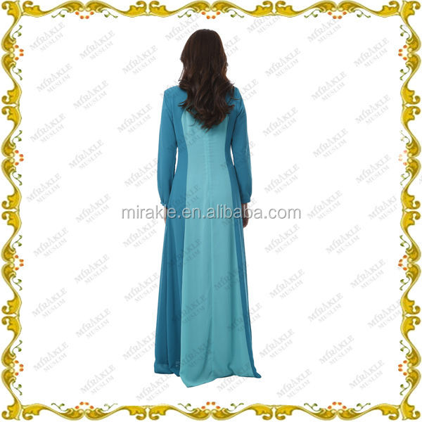 MF23596 new chiffon simple Jubah design with scarf
