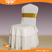Wedding Indoor Decorative Snow White Ruffled Chair Cover