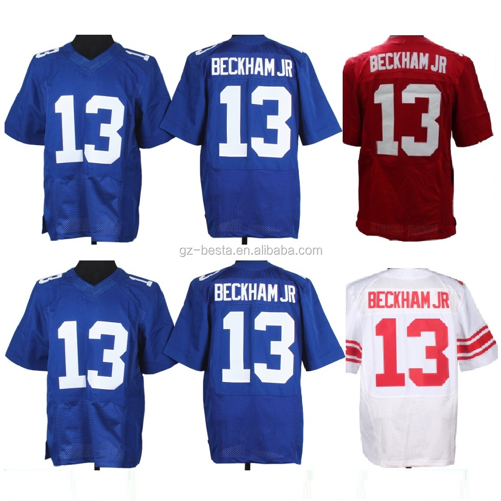 Factory Custom Made Elite Football Jersey Stitched Odell Beckham Jr American Football Jersey