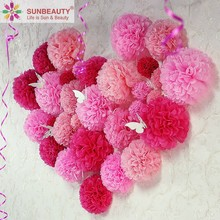 Wholesale Wedding Party Anniversary Home Decoration Ornamental Paper Flower Pompoms 3D Wall Stickers Decor