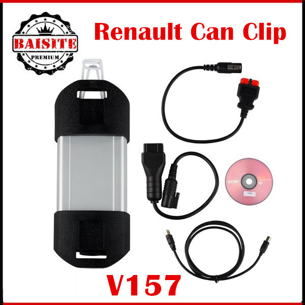 Factory price!!!Renault Can Clip Diagnostic Interface V157 latest version obd2 with cables 2016 in stock
