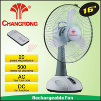 "16"" rechargeable battery operated electronic charger fan with led light"