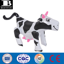 eco-friendly plastic inflatable cow folding snazzy air cow farm animals lovely inflatable cow party gift for kids
