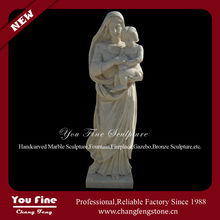 Natural white stone angel craving statue with wings