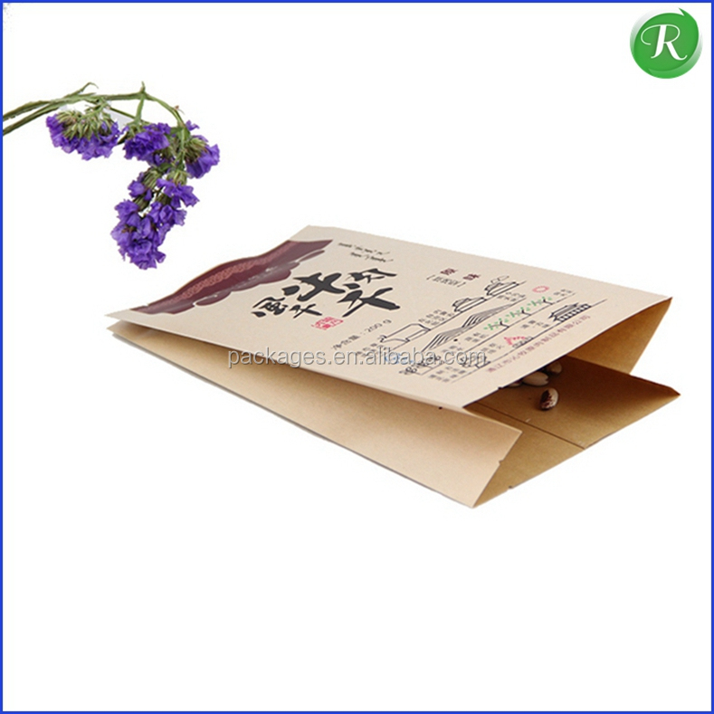 Custom biodegradable kraft paper food bags for air-dried beef